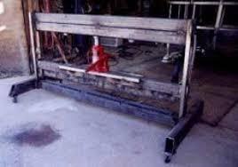 homemade sheetmetal press brake