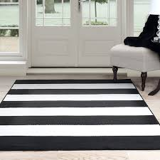black and white stripe area rug