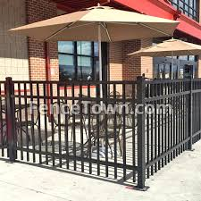 Surface Mounting Fence Posts Mount Aluminum Fence On Cement