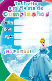 Invitaciones Princesas Disney Cenicienta Jpg 1040 1600