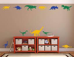 Amazon Com Dinosaur Wall Decals For Boys Room Kids Playroom Baby Nursery Children S Wall Sticker Decor Black White Red Green Brown Yellow Orange Blue Gray Pink Purple Turquoise Metallic Gold Handmade