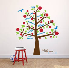 Fruit Of The Spirit Wall Decal Tree Decal Kids Room Decor Sunday School Decor Sunday School Decorations Sunday School Classroom Decor School Decorations