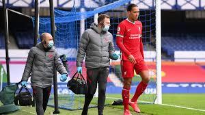 Virgil van Dijk injury scare for ...