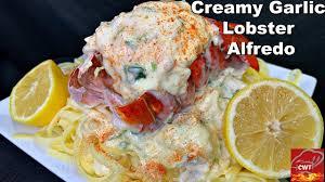 Creamy Garlic Lobster Alfredo
