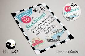 Invitacion Imprimible Auto Clasico 90 00 En Mercado Libre