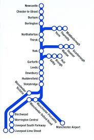 TransPennine Express train / rail maps