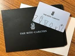 ritz carlton gift card 275 00 pic