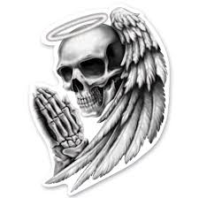Lethal Threat Mini Decal Sticker Angel Skull Walmart Com Walmart Com