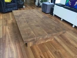 rustic chunky plank coffee table