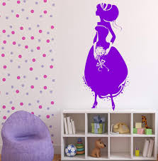 Wall Vinyl Decal Cinderella Princess Crystal Shoe Ball Gown Unique Gif Wallstickers4you