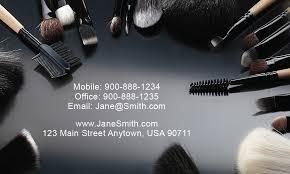 stylish makeup artist business card