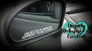 Car Mirror Decal Objects In Mirror Appear To Be Etsy