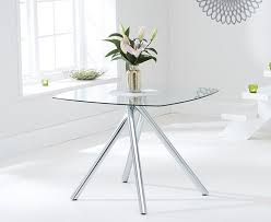 kaplan glass dining table square in