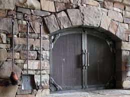 custom wrought iron fireplace door