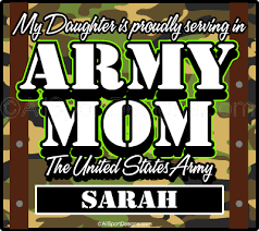 Personalized Army Mom Car Window Stickers Decals