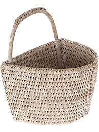 la jolla rattan wall basket small