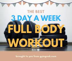 week split full body workout routine