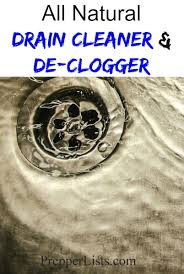 drain cleaner and de clogger recipe