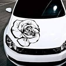 Amazon Com Car Decals Hood Decal Vinyl Sticker Rose Flower Floral Auto Decor Graphics Os160 Home Kitchen Car Decals Car Sticker Design Car Stickers Funny
