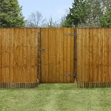 Wooden Fence Gate Feather Edge Side Entrance Gate 5ft Or 6ft Height Gardenis Co Uk