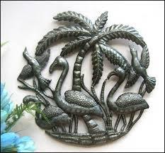 haitian metal art bird wall art steel