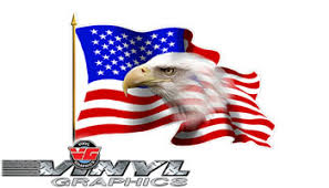 Vehicle Graphics Waving American Flag W Eagle Vinyl Decals Large