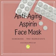 homemade anti aging aspirin face mask