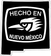 Hecho En Nuevo Mexico Nm Outline Decal Ziagifts Com
