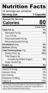 vanilla cake nutrition russell stover