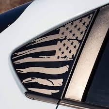 2018 Subaru Crosstrek American Flag Window Decal V2 Everything Vinyl Decal