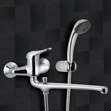 chrome wall mount tub faucet