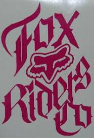 Fox Racing Riders Co Stacked Sticker Sticker Blimp Decals
