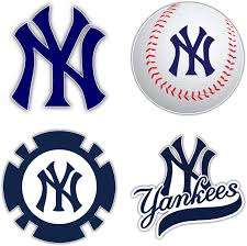 Amazon Com Yankees Baseball New York Set Of 4 Decal 5 Longer Side Kitchen Dining