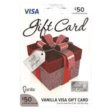 vanilla visa card 50 gift card wilko