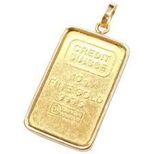 gold 10 grams credit suisse bar pendant