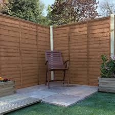 6 X 6 Pressure Treated Lap Garden Fence Panel Waltons