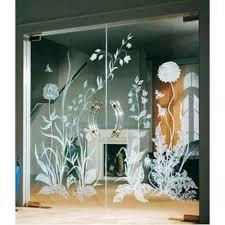 modern design etched glass shape