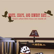 Shop All Decals Boys Wall Decals Boots Chaps And Cowboy Hats That S What Little Boys Are Made Of Vinyl Wall Decal