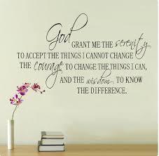 Serenity Prayer God Grant Me Accept Wisdom Wall Decal Sticker Etsy