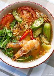 Vietnamese Sweet & Sour Shrimp Soup ...