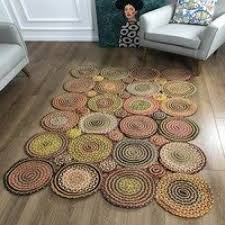 round jute carpet sisal natural fiber