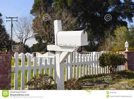 Rural White Mailbox Stock Photo Image Of Container Metal 39407830