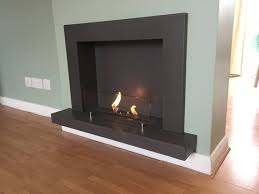 concrete bioethanol fireplace with