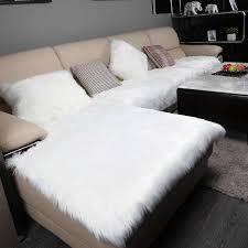 luxury long plush sectional sofa cover