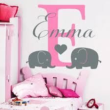 Name Wall Decals Elephant Decal Heart Vinyl Nursery Girl Room Decor Custom Name Decal Sticker Interior Mural Yk 3 Girls Room Decoration Room Decorationelephant Decal Aliexpress