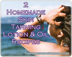 2 homemade skin tanning lotion and oil