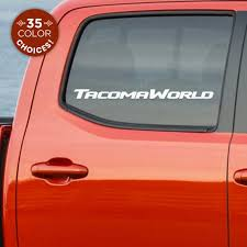 Toyota Tacoma World Car Decal Sticker For Fans Of Toyota Etsy