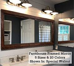farmhouse large framed mirror