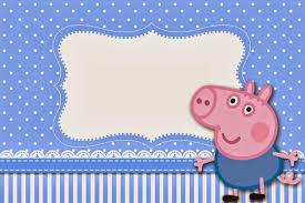 George Pig Invitaciones Para Imprimir Gratis Fiesta De