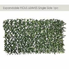 Artificial Ficus Leaf Faux Ivy Expandable Stretchable Privacy Fence Screen Sing Ebay